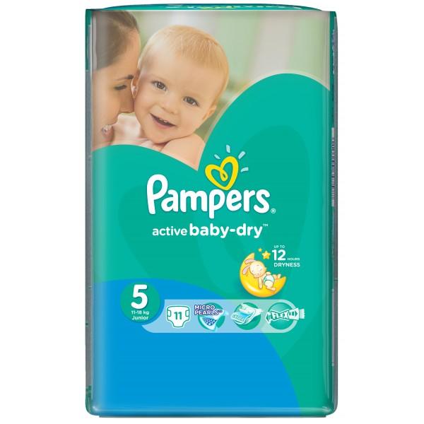 Մանկական տակդիր Pampers N5 11-18 կգ, 11 հատ