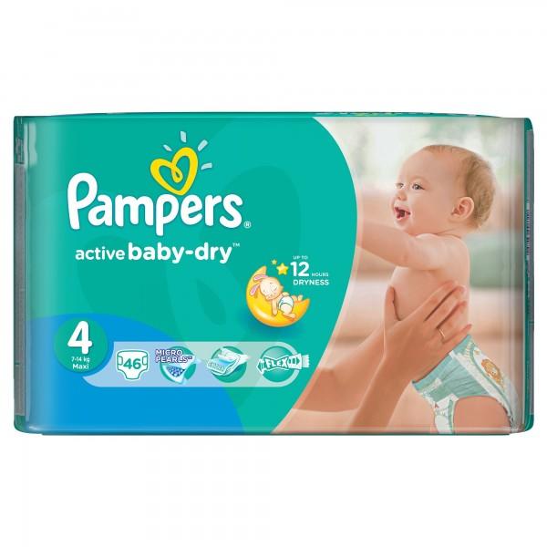 Մանկական տակդիր Pampers N4, 8-14 կգ, 46 հատ