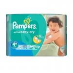 Մանկական տակդիր Pampers N4+, 9-16 կգ, 40 հատ