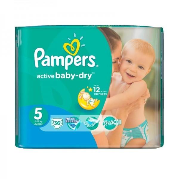 Մանկական տակդիր Pampers N5, 11-18 կգ, 36 հատ