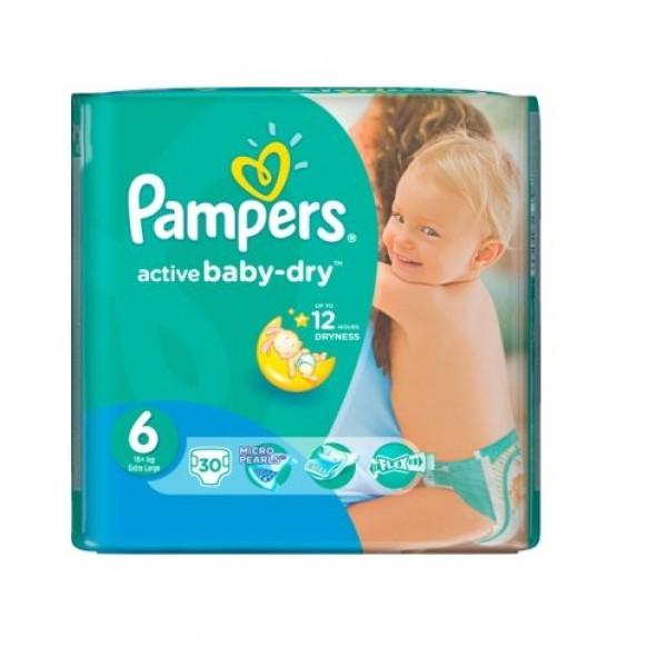 Մանկական տակդիր Pampers N6, 15+կգ, 30 հատ