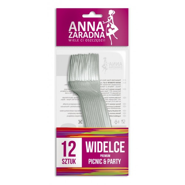 Մեկանգամյա օգտագործման պատառաքաղ Anna Zaradna Premium 12 հատ