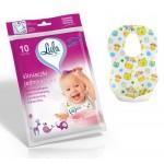 Մեկանգամյա օգտագործման մանկական գոգնոցներ Lula 10 հատ