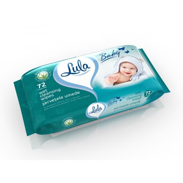 Խոնավ անձեռոցիկ Lula Baby Aloe 72 հատ