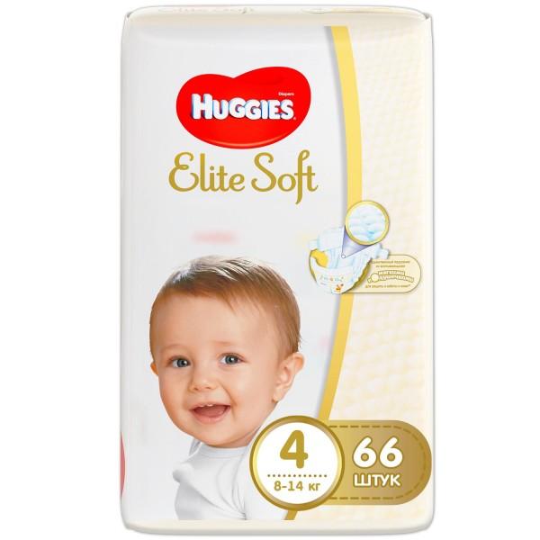 Մանկական տակդիր Huggies Elite Soft N4, 8-14կգ, 66 հատ