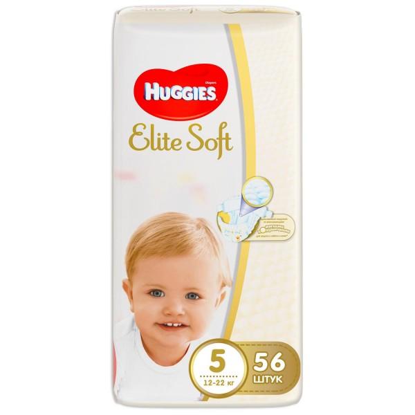 Մանկական տակդիր Huggies Elite Soft N5, 12-22 կգ, 56 հատ