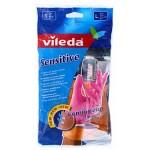 Ձեռնոցներ տնտեսական Vileda Sensitive 1 զույգ, չափ L