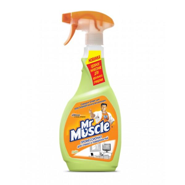Ապակի և հարթ մակերեսներ մաքրող սփրեյ Mr. Muscle Լայմ