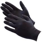 Մեկանգամյա օգտագործման սև նիտրիլային ձեռնոցներ SP Gloves 100 հատ, չափս M