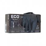 Մեկանգամյա օգտագործման սև լատեքսային ձեռնոցներ ECO 100 հատ