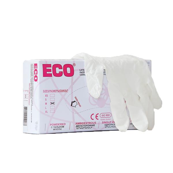 Մեկանգամյա օգտագործման լատեքսային ձեռնոցներ ECO 100 հատ