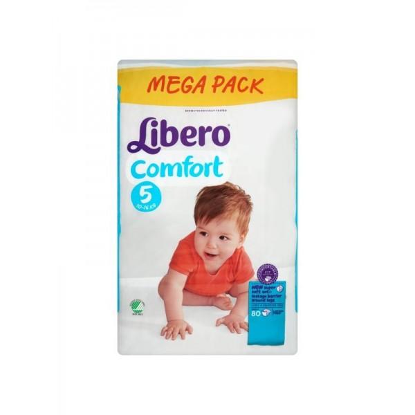 Մանկական տակդիր Libero Comfort 5, 80 հատ, 10-16կգ