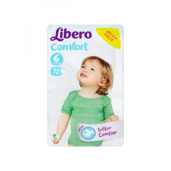Մանկական տակդիր Libero Comfort 6, 12-22 կգ, 70 հատ
