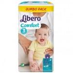 Մանկական տակդիր Libero Comfort 3, 62 հատ, 5-9 կգ